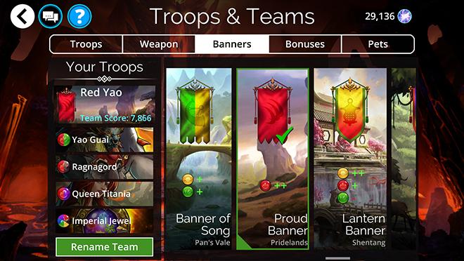 Team Banners – Gems of War Support